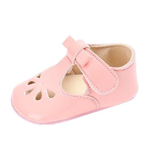Unbekannt Baby Mädchen Schuhe, Auxma Baby Mädchen Bowknot Prinzessin Weiche Sohle Schuhe Kleinkind Turnschuhe Freizeitschuhe Sommerschuhe für 0-18 Monate (12cm/6-12 M, Rosa)