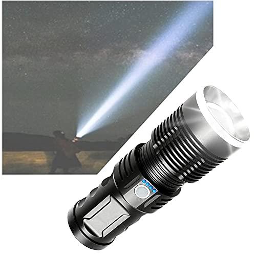 Wiederaufladbare LED-Taschenlampe 90000...