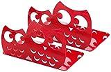 1 Par Organizar Hogar Decoración Búho Forma Lindo Sujetalibros No Antiderrapante Cartoon Metal Libro para Biblioteca Colegio Oficina Estudio Escritorio - Rojo