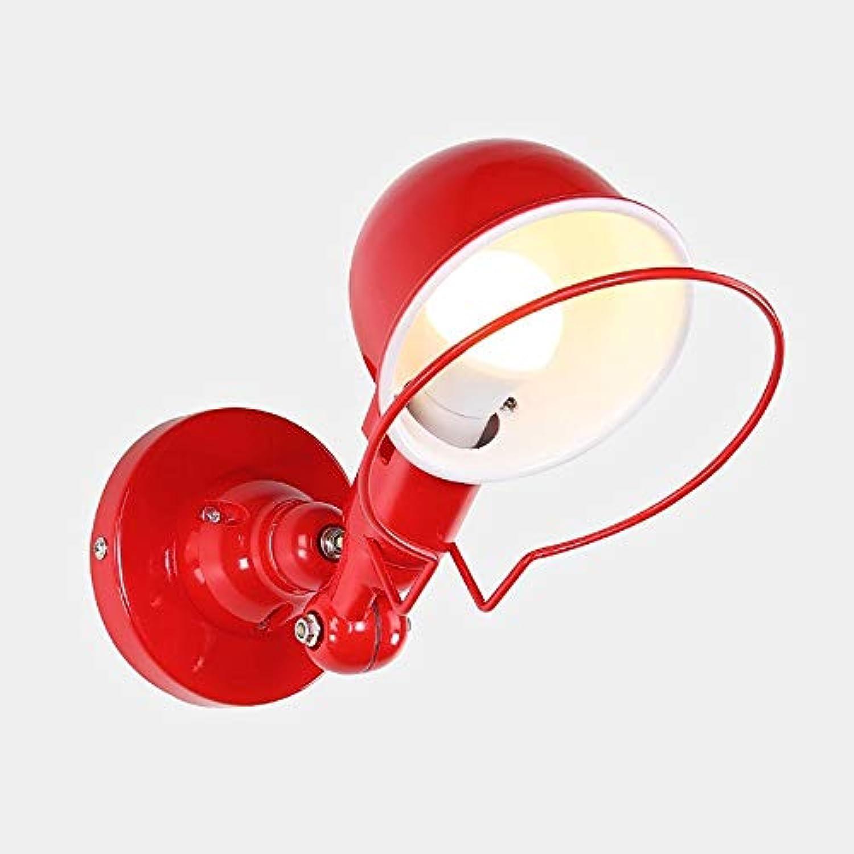 Moderne wandleuchten beleuchtung, einfache metalldraht kfig schwinge mini 1-licht wandleuchten, für schlafzimmer nacht wohnzimmer bauernhaus bar e27 wandleuchte leuchte (Farbe   rot)