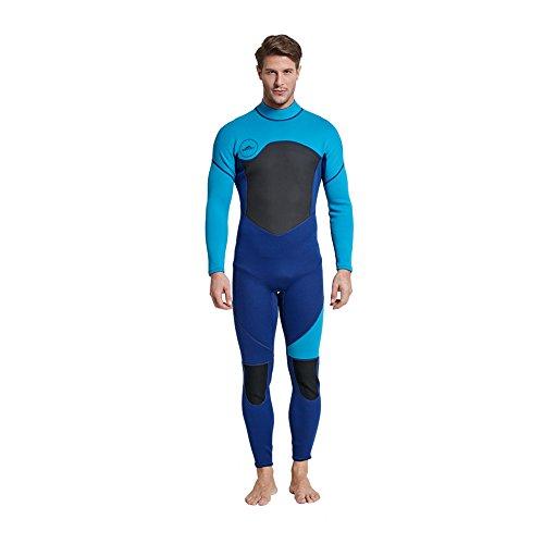 Trajes de Neopreno Hombre Traje de Buceo de Cuerpo Entero de Neopreno de 3mm Traje de Surf Protector UV Traje de Kayak para Buceo con Tubo de Respiración Salto de Natación Pesca en Barco