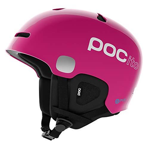 POC Pocito Auric Cut Spin, Casco da Sci Alpino Unisex-Bambini, Rosa (Fluorescent Pink), XS/S