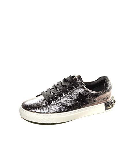 Sneaker Cafè Noir DH911 Scarpe Donna Grigio Piombo con Stampa a Stelle e Borchie 40