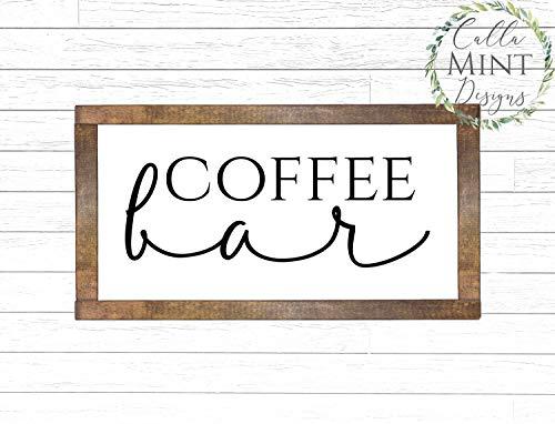 Rea66de Coffee Bar Holzschild Kaffee Holz Schild Küche Holzschild Coffee Bar Schild Holzschild Holzschild Holzschild Bauernhaus Holzschild