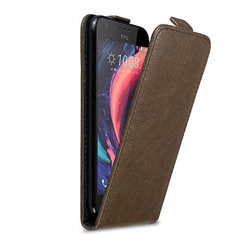 Cadorabo Hülle für HTC Desire 10 Lifestyle/Desire 825 in Kaffee BRAUN - Handyhülle im Flip Design mit Magnetverschluss - Hülle Cover Schutzhülle Etui Tasche Book Klapp Style