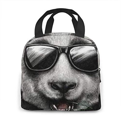 N\A Bolsa de Almuerzo con diseño de Panda para Gafas de Sol, lonchera Grande con Aislamiento para Mujer, Bolsa de Picnic/Trabajo/Viaje/Escuela para Adultos, fácil de Transportar y Limpiar
