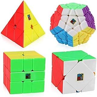 ALISSA Cube Bundle Moyu Mofang Jiaoshi Megaminx Pyramid Skewb Square-1 Cube Stickerless Non-Cubic Cubing Classroom Gift Box
