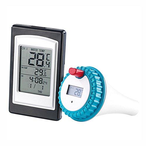 Rokoo Funkthermometer im wasserdichten Whirlpoolthermometer eines Schwimmbad-Spa mit großer LED-Anzeige