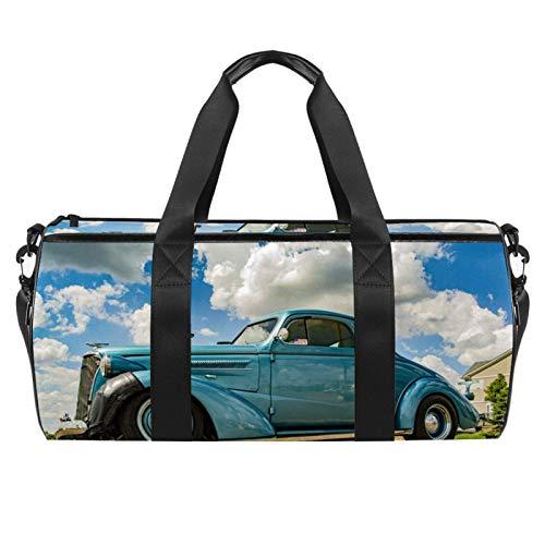 Bolsa de viaje cilíndrica para deportes de coche, con bolsillo mojado, ligera, bolsa de entrenamiento con correa para el hombro para hombres y mujeres