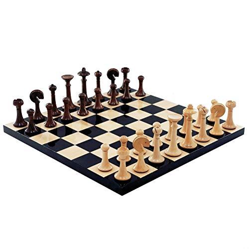 YAMMY Juego de Tablero de ajedrez de Madera con Juego de ajedrez Europeo elaborado, Juego de ajedrez para Principiantes para niños y Adultos, Familia, Chil (Juego de ajedrez)