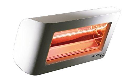 Heliosa 55 55FMX5 Heizstrahler Terrassenstrahler Infrarotstrahler 1500 Watt (leistungsstark) IPX5, aus robustem Aluminium-Druckguss hergestellt und mit thermoplastischen Lacken für den Außenbereich lackiert. Kurzwellen - Heizstrahler für Indoor und Outdoor geeignet, Farbe: Anthrazit