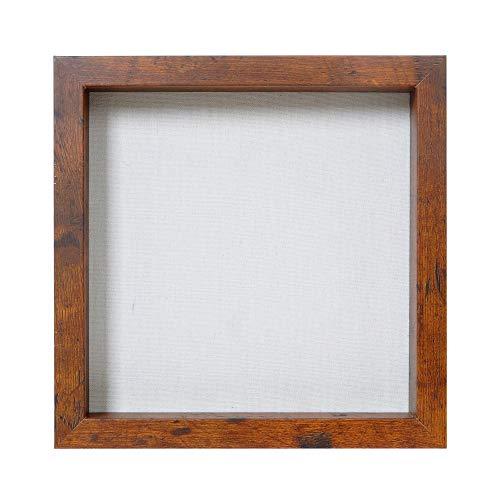 Egleson 3D Bilderrahmen mit Glas Honey 20 x 20 cm Tiefe Fotorahmen zum Befüllen, Objektrahmen als Deco Geschenk für Ostern oder Geburstag, 1 Stück