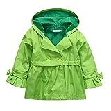 Arshiner ガールズ キッズ レインジャケット 軽量 防水 フード付き レインコート US サイズ: 7-8 Years カラー: グリーン