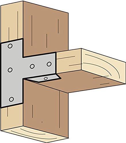 八幡ねじ らくらく取付T字金具 2×4材 2バイ用 11.4×3.6×1.7cm 1個