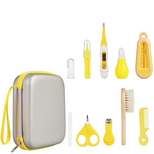 PewinGo Babypflege Set - Baby Pflegeset Neugeborenen-Babypflegezubehör, 10-teiliges Nagelpflegeset für Sicherheitsschneider, Kinderbetreuungsset für Säuglinge Neugeborene - Gelb
