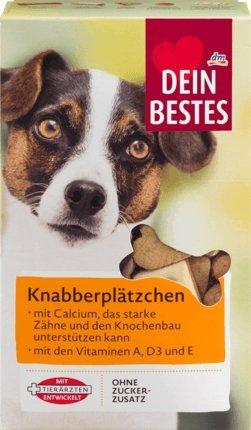 Dein Bestes Snack für Hunde, Knabberplätzchen, 500 g Ergänzungsfuttermittel