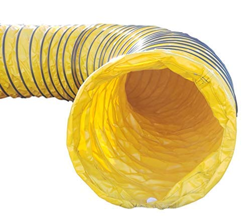 First Choice Products Agilipet Professional Grade UV Resistant - 24' Diameter - Dog Training Agility Tunnel (15 Ft, 14 Ounce Yellow)