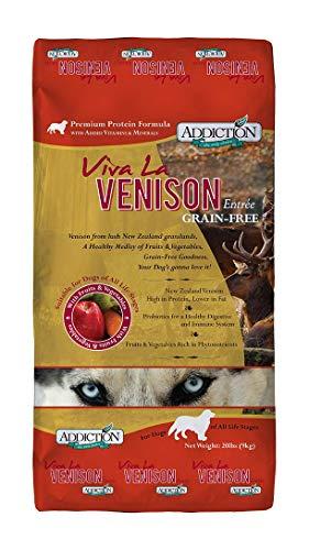 Addiction Viva La Venison Grain Free Dry Dog Food, 33 Lb.