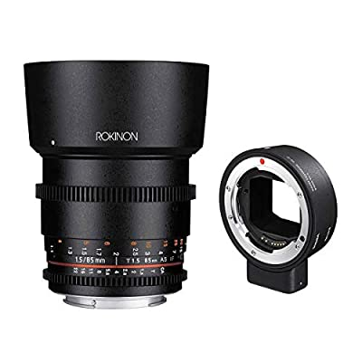 Rokinon 85mm T1.5 Cine DS Aspherical Lens for Canon EF Mount - with Sigma MC-21 Mount Converter, Canon EF Lenses to Leica L Mount Cameras by Rokinon