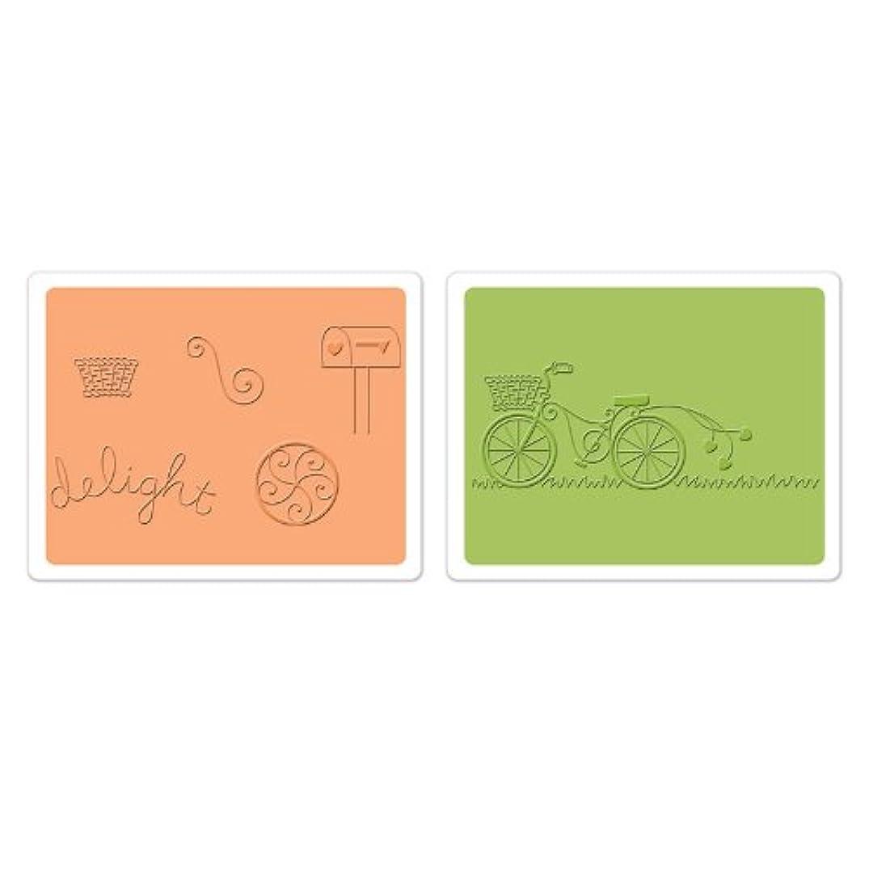 Sizzix Framelits Die Set 6PK with Textured Impressions - Delightful Bicycle Set by Deena Ziegler & Jen Long