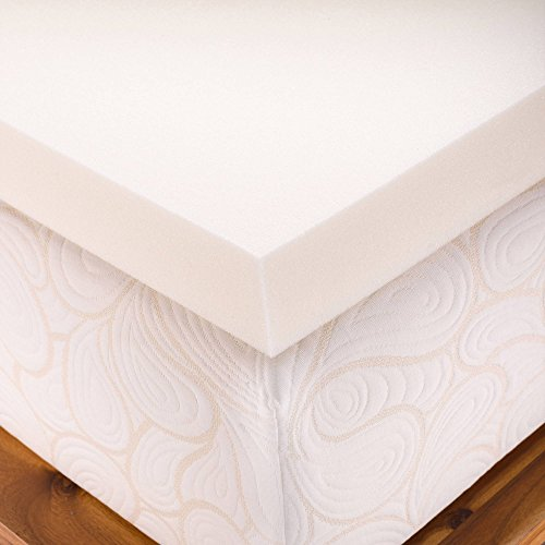Queen Size 4 inch Thick, Firm Conventional Polyurethane Foam MattressPad, Bed Topper Made in the USA