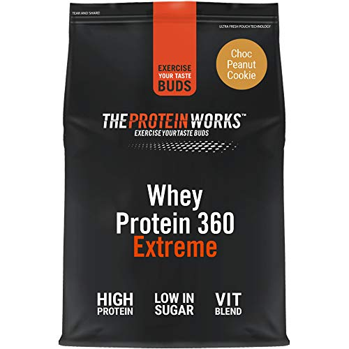 THE PROTEIN WORKS Whey Protein 360 Extreme Protein Powder | High Protein Shake | With Glutamine, Vitamins & Minerals | Protein Blend | Choc Peanut Cookie | 2.4 kg