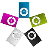 USB2.0 Mini Reproductor MP3 3.5mm con el Clip Simple Soporte de la Tarjeta Micro SD TF Sin Dispaly Pantalla