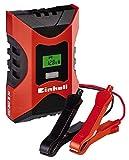 Einhell Batterie Ladegerät CC-BC 6 M (für Batterien von 3 bis 150 Ah, Ladespannung 6 V / 12 V, Winterlademodus, LCD-Batteriespannungs- und Ladefortschrittsanzeige)