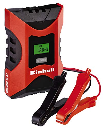Einhell 1002231 Cargador Bateria CC-BC 6 m con ControlMicro-Processor Voltaje 6/12v