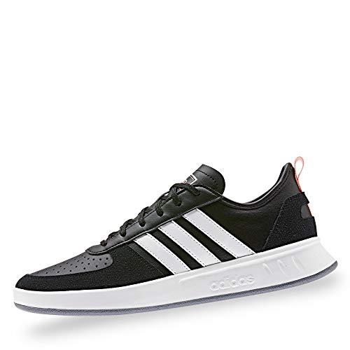 adidas EE9833 Court80S Damen Sneaker aus Glatt-Veloursleder Textilausstattung, Groesse 41 1/3, schwarz