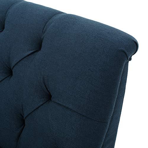 Christopher Knight Home 299949 Nicole Dark Blue Fabric Settee