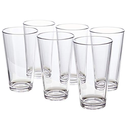 Bistro 20-ounce Premium Quality Clear Plastic Tumblers   set of 6