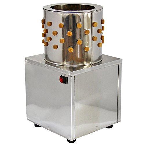 KUKOO 30 cm Geflügelrupfmaschine Nassrupfmaschine Rupfmaschine aus Edelstahl mit 98 Rupffingern 32cm x 57cm x 32cm
