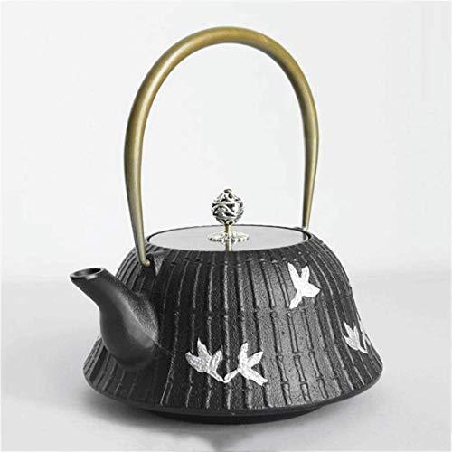 Tetera de Hierro Fundido, té de Hierro Fundido, hervidor de té de Hierro Fundido Vintage, Tetera pequeña Hecha a Mano de fácil vertido para Fiestas, oficinas en casa, 1.3 L, Ideal para té o té Chino