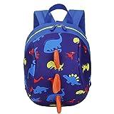 YWLINK Kinder Süß Komisch 3D Cartoon Dinosaurier Tierrucksack Baby Kleinkind Schultasche Daypacks Rucksackhandtaschen MäDchen Jungen Rucksack (Dunkelblau,20cm(L)/26cm(H)/12cm(W)(7.9'/10.2'/4.7)