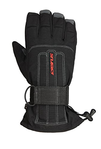 Seirus Innovation 1208 Skelton Winter Cold Weather Unisex Glove - Built in Support and Removable Wrist Protection to Prevent Injury, Medium, Black