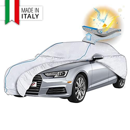 Walser Premium Autoplane Sun Reflect, UV-Schutzplane Auto, Hitzeschutz Auto, Sonnenschutz Vollgarage, Autoabdeckung, Autogarage, Größe 6