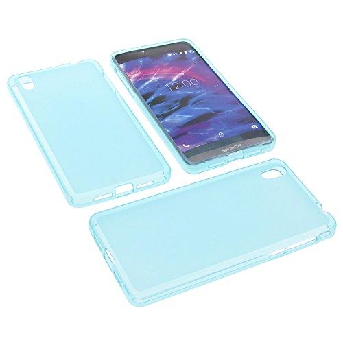 foto-kontor Tasche für MEDION Life X5004 Gummi TPU Schutz Hülle Handytasche blau