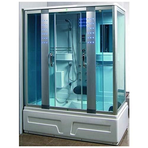 Box doccia idromassaggio cabina con vasca idromassaggio 160x85cm bagno turco cromoterapia  1