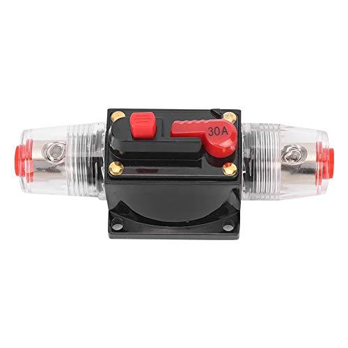 SANON DC 12-24V Coche Camión Amplificador de Audio Reinicio Disyuntor Portafusibles Accesorio de Coche