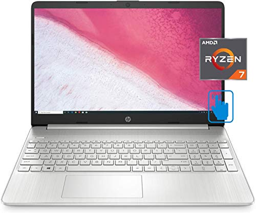 HP 15-ef FHD Home and Business Laptop (AMD Ryzen 7 4700U 8-Core, 32GB RAM, 8TB PCIe SSD, AMD Radeon, 15.6' Touch Full HD (1920x1080), WiFi, Bluetooth, Webcam, Win 10 Home) with Security Software