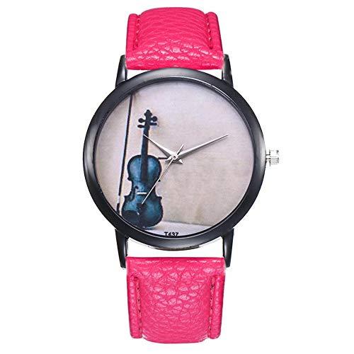 Uhren für Frauen Musikinstrument Bunte Damen Quarzuhren Phantasie Temperament Casual Damen Armbanduhren Einfache Geburtstagsgeschenke