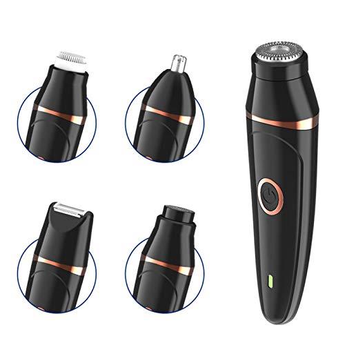 Afeitadora eléctrica recargable, afeitadora multifuncional 5 en 1, recortadora eléctrica que no daña la piel, para la familia del peluquero del marido
