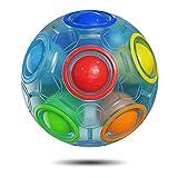 ROXENDA Puzzle Ball Rainbow Ball, Gioco di Abilità Magic Ball - Rompicapo e Palla Antistress per Bambini e Adulti (Blu)