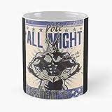 Allmight Am Anime Plus Gift Coffee/tea Ceramic Mug 11 Oz