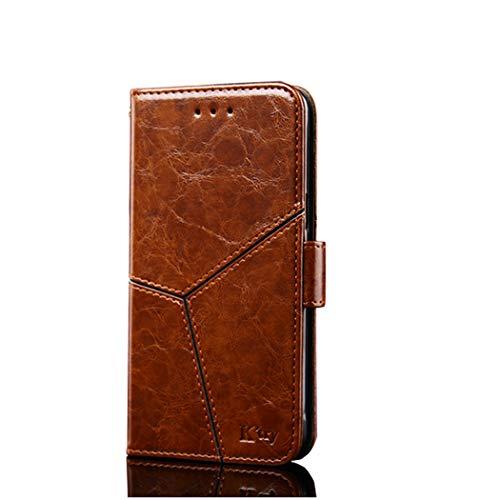 Preisvergleich Produktbild Homikon PU Leder Hülle Retro Einfach Persönlichkeit Nähen Schutzhülle Brieftasche Ledertasche Bookstyle Handyhülle Lederhülle Magnetverschluss Kompatibel mit Samsung Galaxy A7 2018 - Hellbraun