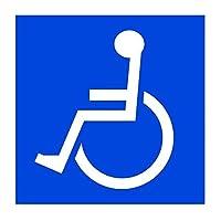 SSC 車椅子ステッカー 身障者用設備・障害者用設備 車いす 車イス 車両等への貼付に最適 障害用設備ありの標識/マークにも 左向き/151×151mm qb600030b02n0
