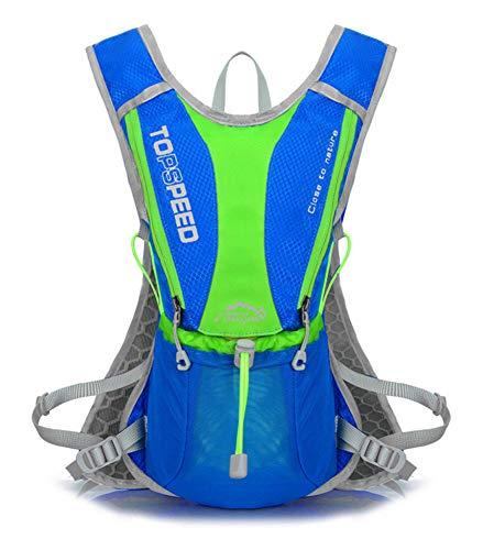 Outdoor Bag Sacs à Dos en Plein air imperméables Sacs Trail Running Sac à Dos Léger 2L Hydratation Escalade Sport Hydration Sac à Dos Travel-Blue-Onesize