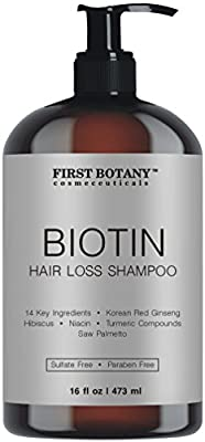 Hair Growth Hair Loss Shampoo - 16 fl oz, with 14 DHT blockers- Hair Regrowth and Daily Hydrating, Detoxifying, Volumizing Shampoo For Men and Women