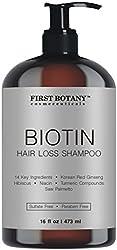 Hair Regrowth and Anti Hair Loss Shampoo 16 fl oz, with 14 DHT blockers- Daily Hydrating, Detoxifying, Volumizing Shampoo For Men and Women